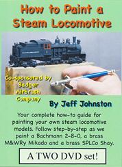 How To Paint A Steam Locomotive and Model Railroad Train DVD Video
